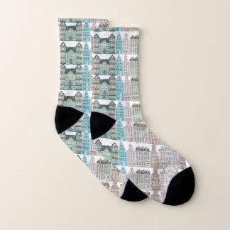 Grafisches Architektur ganz über Druck auf Socken