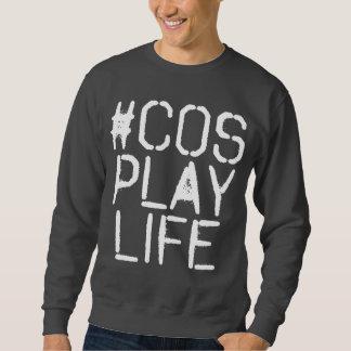Grafisches #CosplayLife Licht Sweatshirt