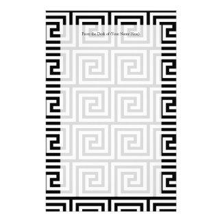 Grafisches griechisches Schlüsselschwarzweiss-must Briefpapier