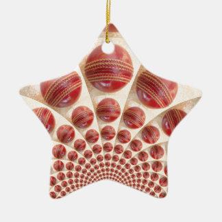 Grafisches Vintages Kricket-Spiel von Keramik Stern-Ornament