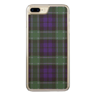 Graham-Clan karierter schottischer Tartan Carved iPhone 8 Plus/7 Plus Hülle