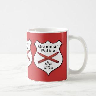Grammatik-Polizei-Abzeichen Kaffeetasse