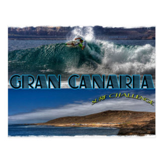 Gran Canaria Brandungs-Herausforderung Postkarte