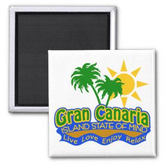 Gran Canaria Staat des Sinnesmagneten Quadratischer Magnet