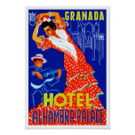 Granada-Hotel-Alhambra-Palast Plakate