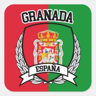 Granada Quadratischer Aufkleber