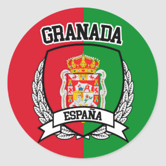 Granada Runder Aufkleber