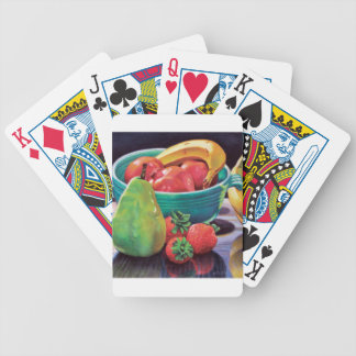 Granatapfel-Bananen-Beeren-Birnen-Reflexion Bicycle Spielkarten