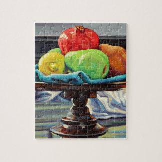 Granatapfel-Birnen-Zitronen-Sockel Puzzle