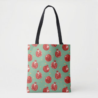 Granatapfel-Frucht-vektornahtloses Muster Tasche