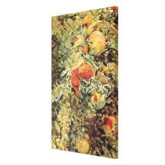 Granatäpfel II durch Sargent, Vintage Garten-Kunst Leinwanddruck