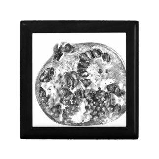 Granatapfel in Schwarzweiss Erinnerungskiste