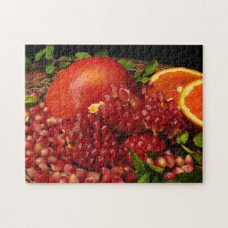 Granatapfel-orange und tadelloses Puzzlespiel Puzzle