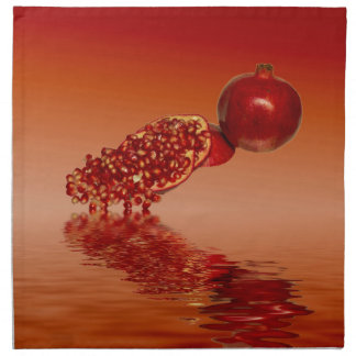 Granatapfel superfood Frucht Serviette
