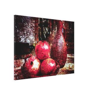 Granatäpfel und ein Krug Leinwanddruck