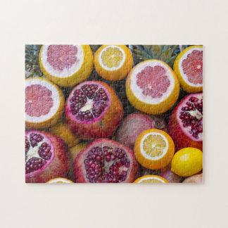 Granatäpfel und Orangen zackig Puzzle