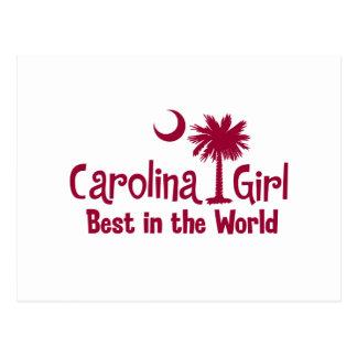 Granats-Carolina-Mädchen am besten in der Welt Postkarte