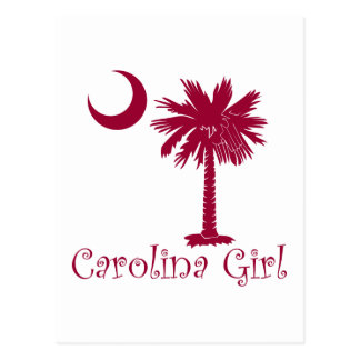 Granats-Carolina-MädchenPalmetto Postkarte