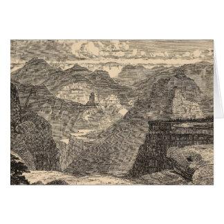 Grand Canyon, Amphitheatre, gestaltete Buttes Karte
