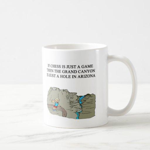 Grand Canyon des Schachspiel-Spielers Kaffee Haferl