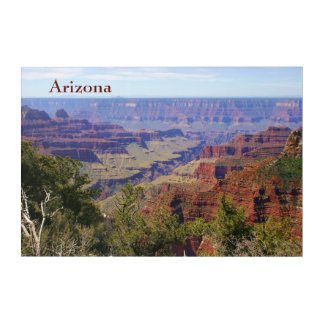 Grand- Canyonarizona-LandschaftsFoto mit Text Acryl Wandkunst