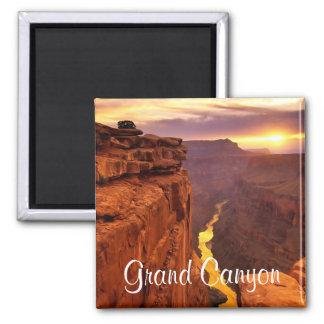 Grand- CanyonNationalpark-Arizona-Sonnenuntergang- Quadratischer Magnet