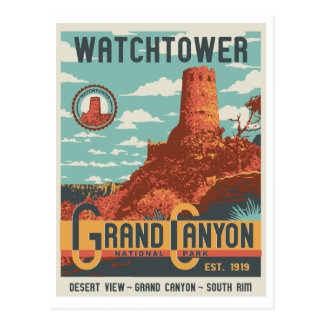 Grand- CanyonNationalpark-Wachturm-Postkarte Postkarte