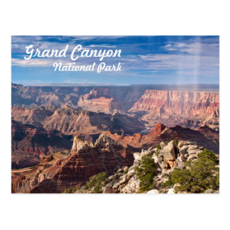 Grand- CanyonNationalpark während eines rainshower Postkarte