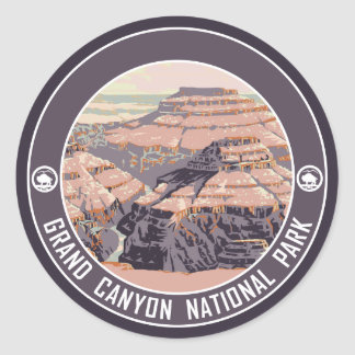 Grand- CanyonVintager Plakat-Entwurf Runder Aufkleber