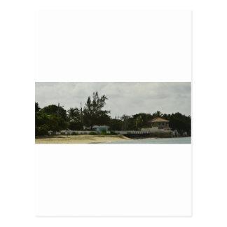 Grand Cayman Wasser-Front Postkarte