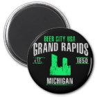 Grand Rapids Runder Magnet 5,1 Cm