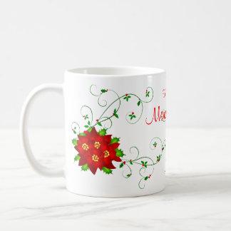 Grandmom frohe Weihnachten Pointsettia Kaffeetasse