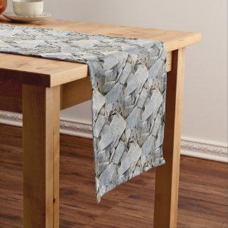 Granit-Durcheinandermuster-Wohngestaltung Kurzer Tischläufer
