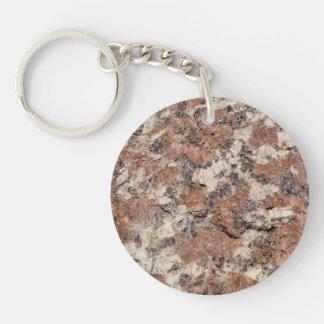 Granit-Felsen-Beschaffenheit --- Rosa Schlüsselanhänger