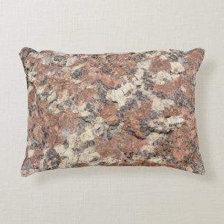 Granit-Felsen-Beschaffenheit --- Rosa Zierkissen