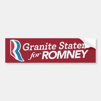 Granit Staters für Romney Aufkleber Autoaufkleber