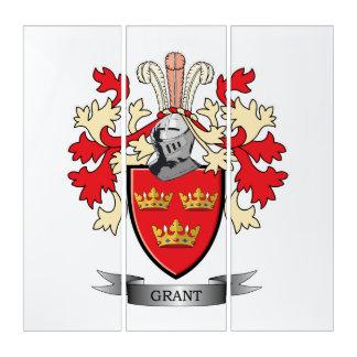 Grant-Familienwappen-Wappen Triptychon