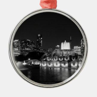 Grant-Park-ChicagoGrayscale Silbernes Ornament