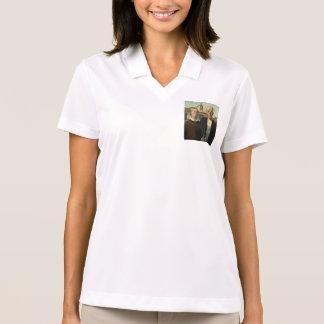 Grant Wood - amerikanisches gotisches Polo Shirt