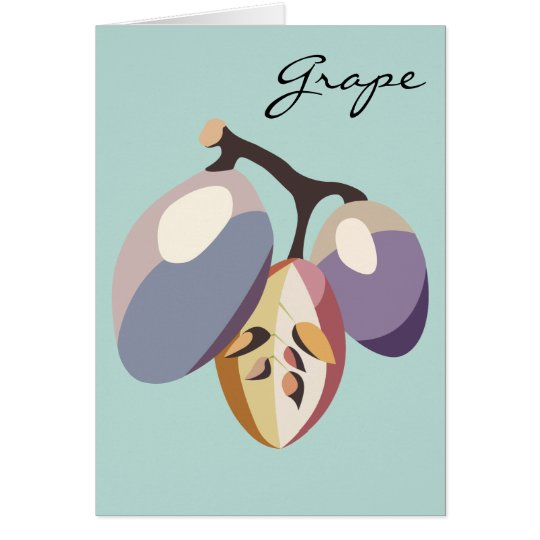 Grape fruit illustration karte
