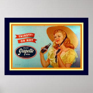 Grapette Vintages Anzeigen-Plakat 13 x 19 Poster