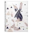 graph paper triangle soft Design by SIRAdesign Spiral Notizblock