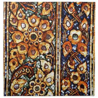 Graphitabstrakte antike Kram-Art-Mode-Kunst S Stoffserviette