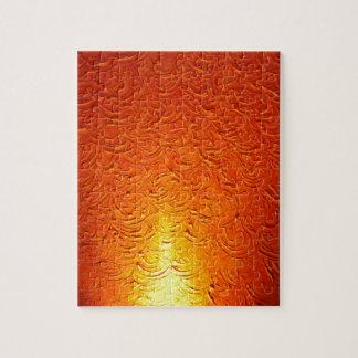 Graphitfeuer-Brand-Rauch-abstraktes Metallrostiges Puzzle