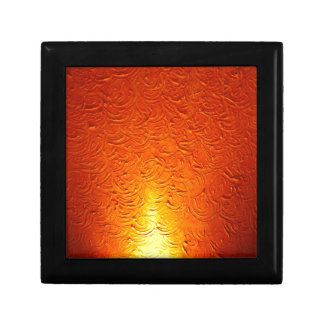 Graphitfeuer-Brand-Rauch-abstraktes Metallrostiges Schmuckschachtel