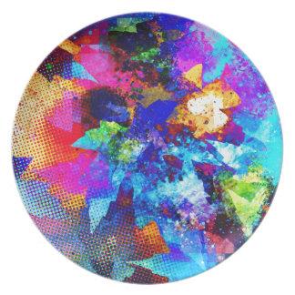Graphitkunstmalerei Straßen-Kunst kreative Farben Melaminteller