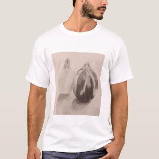 Graphitzeichnen des Kürbisses in Schwarzweiss T-Shirt