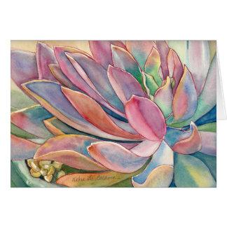 Graptoveria Watercolor durch Debra-Lee Baldwin Karte