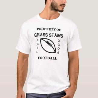 Gras befleckt Fußball-langes Sleeved T-Shirt