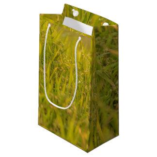 Gras-Detail-Foto Kleine Geschenktüte